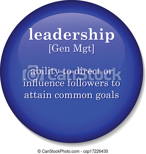 dictionary definition of the term leadership - csp17226430