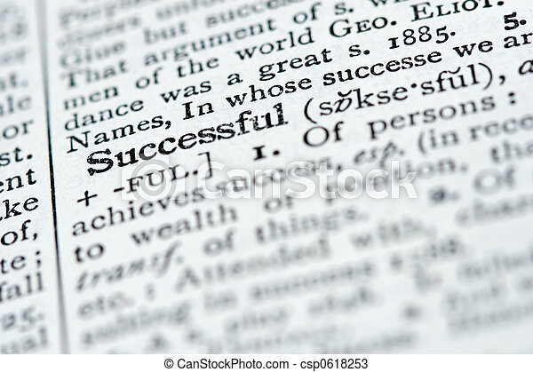 Dictionary Definition - Successful - csp0618253