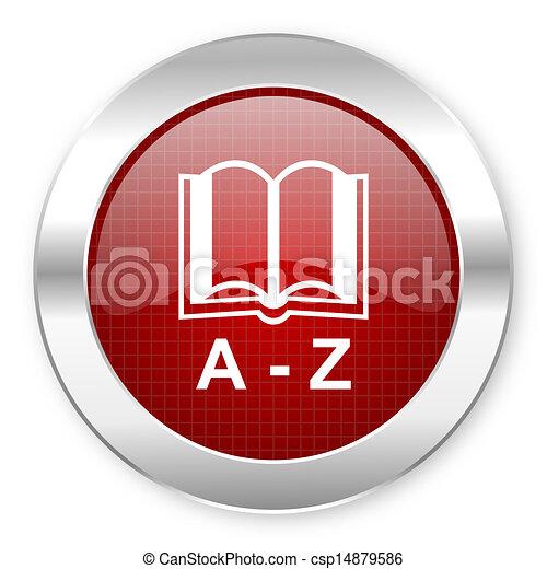 dictionary icon - csp14879586