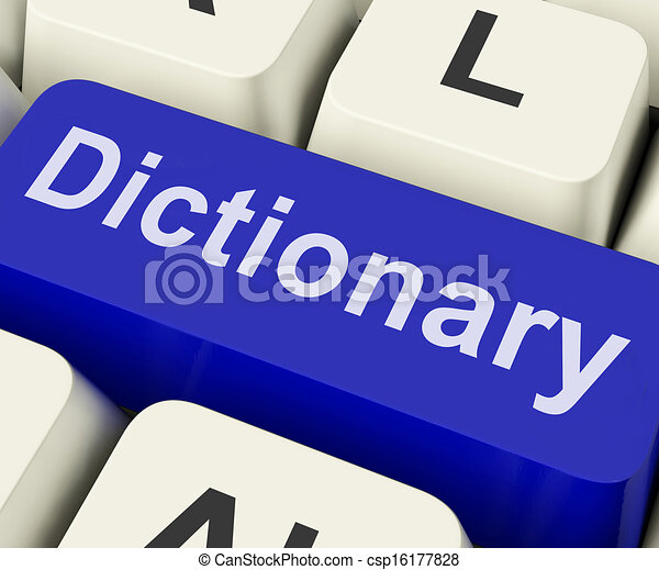 Dictionary Key Shows Online Or Web Definition Reference - csp16177828