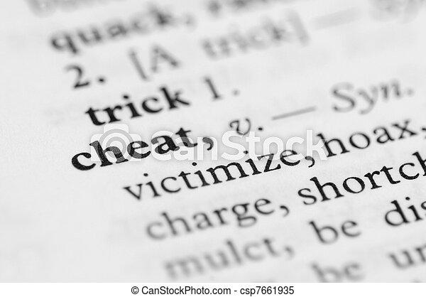 Dictionary Series - Cheat - csp7661935