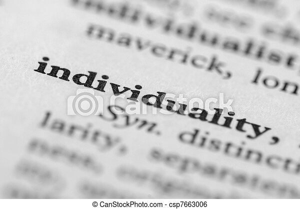 Dictionary Series - Individuality - csp7663006