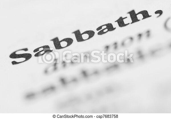 Dictionary Series - Sabbath - csp7683758