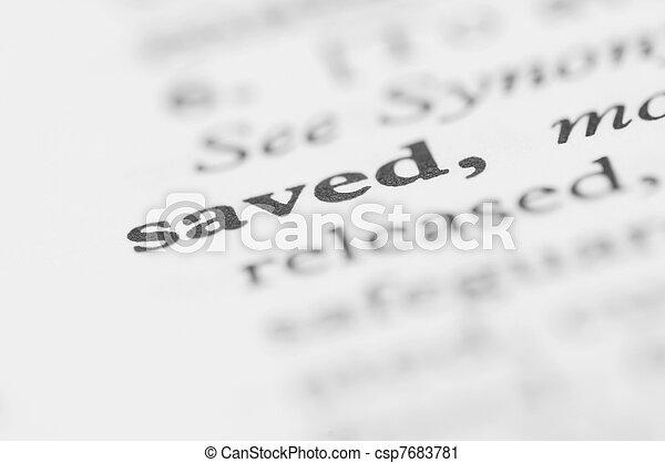 Dictionary Series - Saved - csp7683781