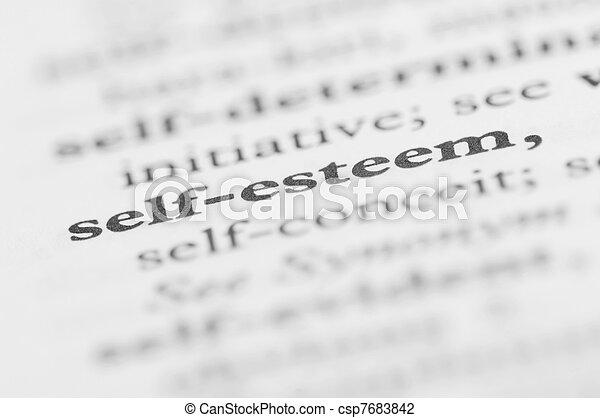 Dictionary Series - Self-esteem - csp7683842