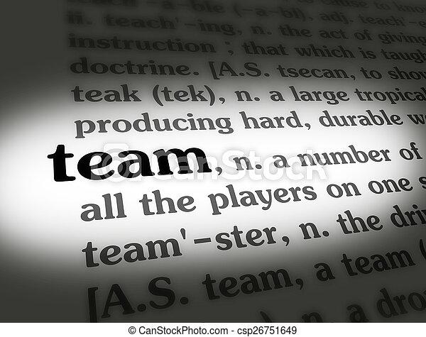 Team Definition Of Team At Dictionary Com >> Dictionary Team Black On White