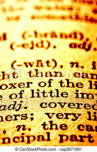 Dictionary text  - csp3971991