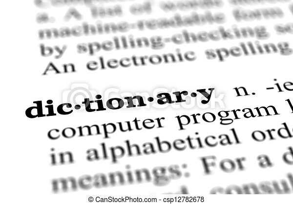 dictionary word from dictionary - csp12782678