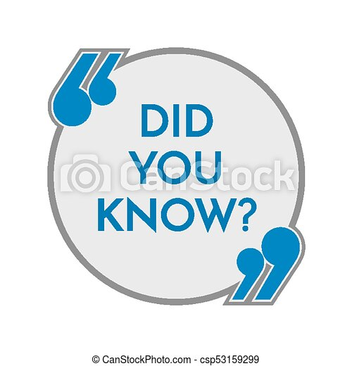 Did you know question sign inside grey bubble - csp53159299