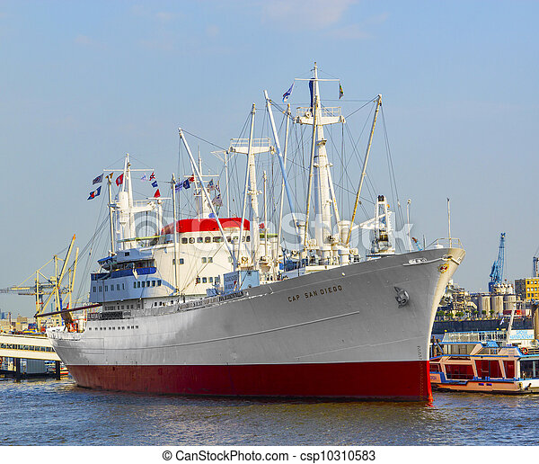 diego, histórico, san, cargueiro, hamburgo - csp10310583