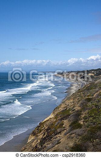 diego , san , ειρηνικός ωκεανός , ακτογραμμή , ανεμίζω  - csp2918360