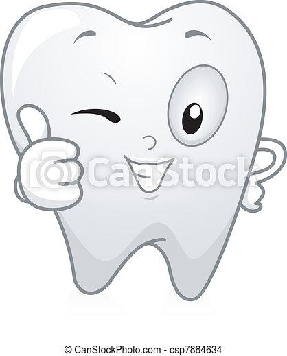 Pulgares de dientes arriba - csp7884634