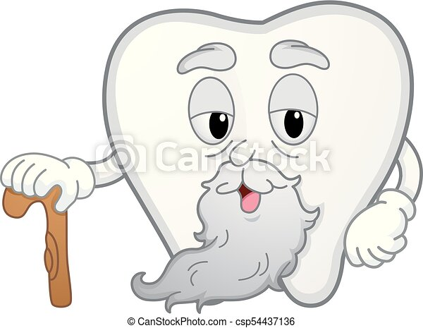 Mascota de dientes ilustración de caña - csp54437136