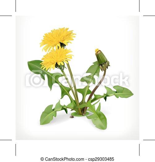 Un icono de flores de diente de león - csp29303485