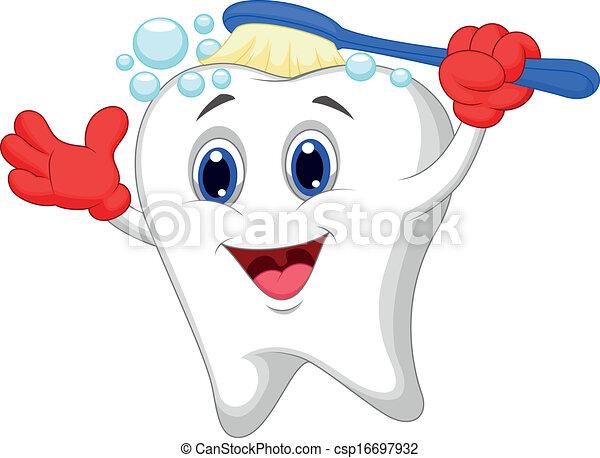 Cepitos de dientes felices - csp16697932