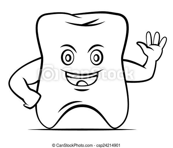 Hola mascota de los dientes - csp24214901