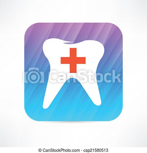 Ícono de dientes - csp21580513