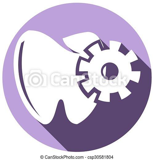 Ícono de dientes - csp30581804