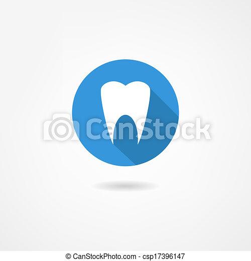 Ícono de dientes - csp17396147