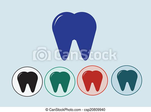 Ícono de dientes - csp20809940