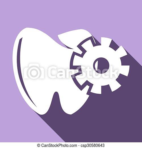 Ícono de dientes - csp30580643