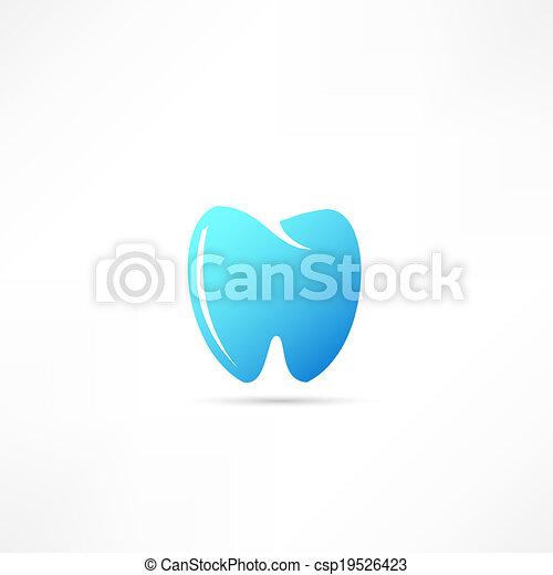 Ícono de dientes - csp19526423