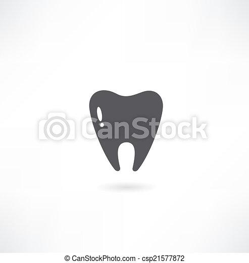 Ícono de dientes - csp21577872