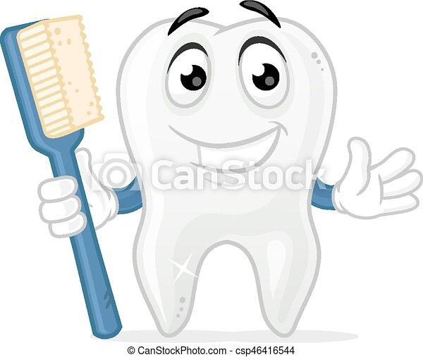 La mascota de los dientes - csp46416544