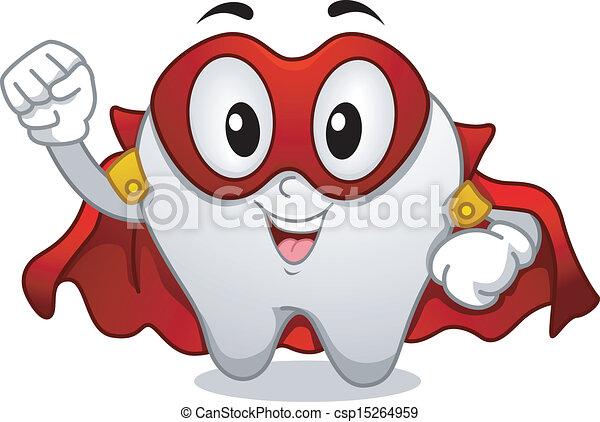 La mascota del superhéroe de los dientes - csp15264959