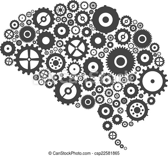Engranajes cerebrales y engranajes - csp22581865