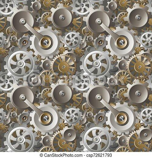 Engranajes y engranajes sin maquinaria - csp72621793