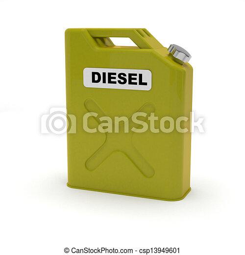 Diesel jerrycan aislado - csp13949601