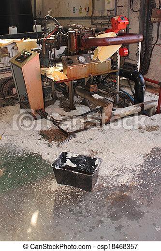 Diesel fuel spill - csp18468357