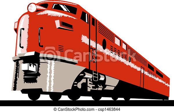 Diesel train - csp1463844