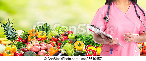 Diet and health care. - csp25640457