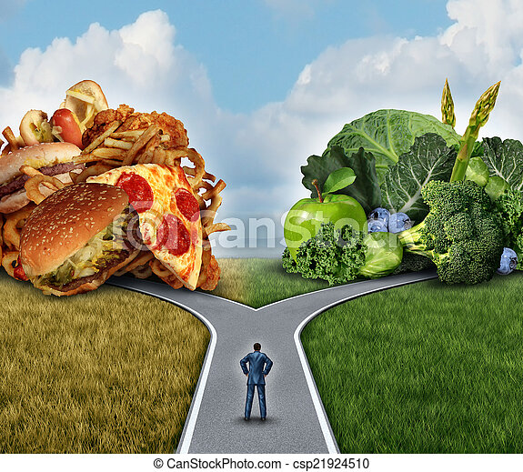 Diet Decision - csp21924510