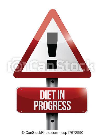 diet in progress warning sign illustration design - csp17672890