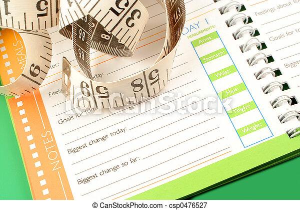 diet journal - csp0476527