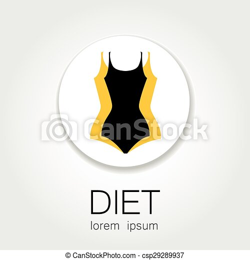 diet logo weight loss template sign for the diet beauty and