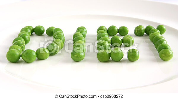 Diet on a plate from peas - csp0968272