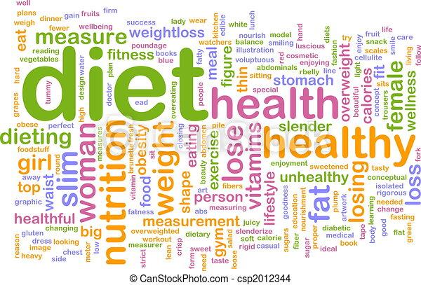 Diet Word Cloud Stock Illustration