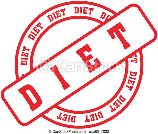 Diet Word Stamp1 Vector