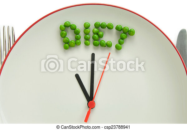 Hora de la dieta - csp23788941