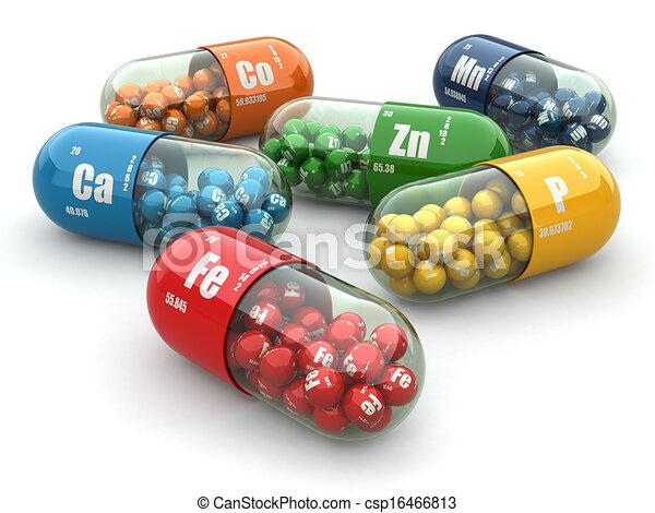 Dietary supplements. Variety pills. Vitamin capsules. - csp16466813