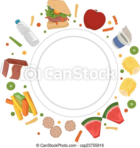 Dietetics Food Plate - csp23755916