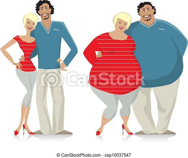Dieting couple - csp10037547