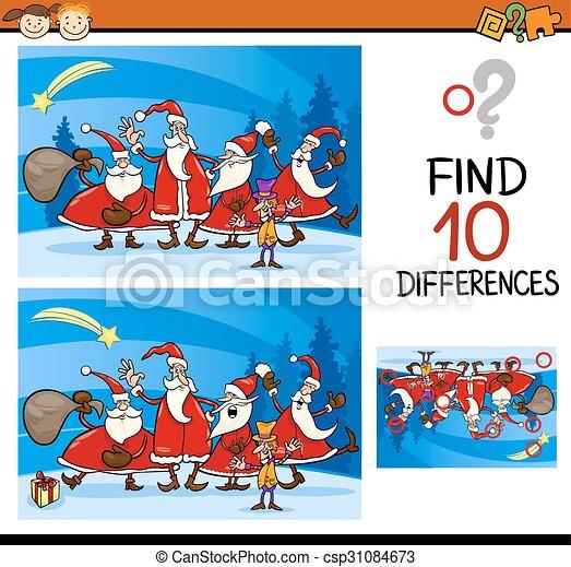 diferenças, tarefa, natal, achar - csp31084673