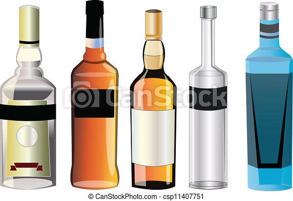 Diferentes sabores de alcohol - csp11407751