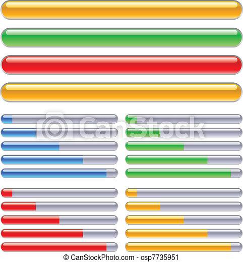 Indicador del progreso en diferentes colores - csp7735951