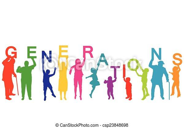 Generaciones concepto con personas de diferentes edades - csp23848698